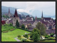Zug, Switzerland. My apartment was right next to the church in the very left corner :)