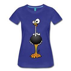 Strauß T-Shirt/ #ostrich #tshirt #Spreadshirt #Tekenaartje #SOLD