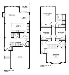 Kitchen Floor Plans With Island And Walk In Pantry broadview homes - the fairview is a 1783 sq.ft two-storey home