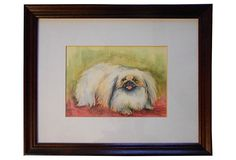 Watercolor of a Pekingese Dog on OneKingsLane.com Pekingese Dogs, Japanese Chin, Art Forms, Art Drawings, Watercolor, Toys, Painting, Watercolor Painting
