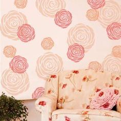 Floral Stencils: Flower stencils for wall painting, floral stencil designs for walls and furniture