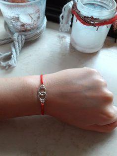 Handcuff / Handschelle Armband schnur handmade 925 Silver