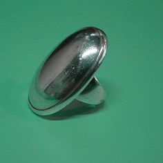 """VINTAGE HUGE GEORG JENSEN RING # 90 , SIZE 6, STERLING SILVER Condition:fine vintage, preowned Year: after 1945 Size: 6, front 1 1/4"""" by 7/8"""" - can be resized for free"""