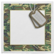 Customizable Party Napkins: Camouflage / Camo Theme Birthday Party Disposable Napkin http://www.zazzle.com/camouflage_camo_theme_birthday_party_taylorcorpnapkin-256362033197092014?rf=238756979555966366