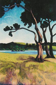 Wendy Leach Artist - New Zealand New Zealand Landscape, New Zealand Art, Nz Art, Design Art, Tile Design, Art Tutorials, Illustration Art, Watercolor, Art Prints