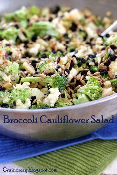 Healthy Broccoli Cauliflower Salad