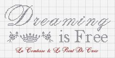 Lacomtesse&lepointdecroix: Dreaming is free