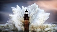 Wave Lighthouse by Greg Waters