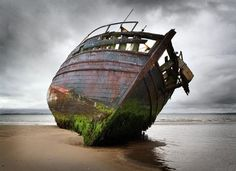 "Saatchi Online Artist Damian Shields; Photography, ""Wreck of the 'Co-worker', Isle of Bute"" #art"