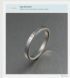 Stackable Chased Sterling Silver Band Ring - Unisex Band Rings - Silver Stackable Band Rings - A Great Wedding Band or Commitment Ring! by johnsbrana Handmade Rings, Handmade Jewelry, Handmade Silver, Silver Jewelry, Silver Rings, Fine Jewelry, Men's Jewelry, Bridal Jewelry, Jewelry Making