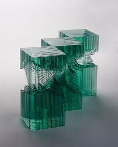 sculpture-abstraire-verre-Ben Young.