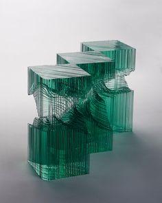 sculpture-abstraire-verre-Ben Young.