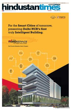 Imperia MindSpace Ad on Today's Hindustan Times, Gurgaon Edition (12 March 2016)