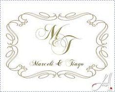 monogramas casamento - Pesquisa Google
