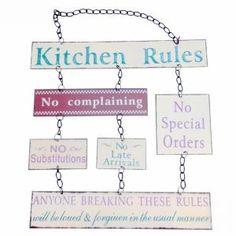 Tablica Kitchen Rules ZASADY KUCHNIA nowość PREZEN