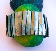 Stretch Turquoise Bracelet   Vintage 1980's Mother by ReTainReUse, $17.50
