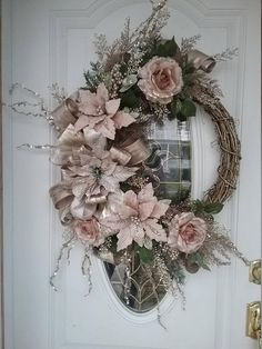 Christmas Wreath Winter Wreath Holiday Wreath ROSE GOLD