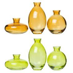 Vas Mini 3 -pack Färg Glas - - Rusta.com