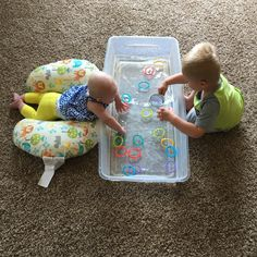 Sensory Bins for Siblings - Let's Play Little One