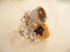 French Breakfast Ring Chocolate Croissant by DreamlandMiniatures, $14.00