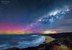 . Aurora Australis lights & the Milky Way over Bells Beach Victoria last night. . A print of this could be on your wall ! . . Prints and fine art canvas prints are available... http://ift.tt/1H58jRw . http://ift.tt/1FEnBhv .  #photo #photography #pics #Seascape #picture #pictures #art #beautiful #bellarine #galaxy #surfcoast #exposure #fineart #sea #sunrise #sunset #bellsbeach #astrophotography #surf #nature #surfing #landscape #milkyway #landscapephotography #southernlights #ocean #storm…