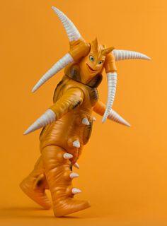 Mr. Happy. Bullmark Dakaron sofubi from Mirrorman series. #Bullmark #Mirrorman #ミラーマン #Tokusatsu #Tsuburaya #1972 #kaiju #monster #alien #Dakaron #vintagetoys #japanesetoys #toys #sofubi #Kaiju #sofubi #sofvi #ソフビ  #happy #spikey