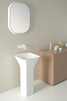 Discover more of the best Bathroom inspiration on Designspiration Zen Furniture, Bathroom Furniture, Bathroom Interior, Modern Bathroom, Furniture Design, Bad Inspiration, Bathroom Inspiration, Modern Pedestal Sink, Washbasin Design