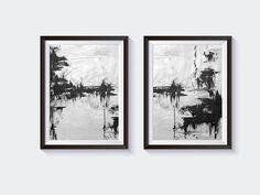 Grey Black Printable Instant Download Of Original Abstract