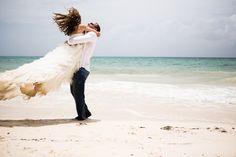 beach wedding. trash the dress. amazingness