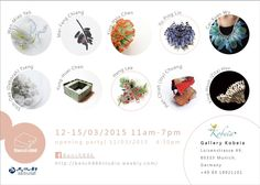 """Bench 886 - """"Bubble Land"""" - Ten Contemporary Jewellery Artists from Taiwan  Opening   March 11, 18:30 When   March 12-15 Open hour   11:00 - 19:00 Where   Galerie Kobeia, Luisenstrasse 49, 80333 Munich, Germany - - X"""