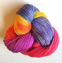 Kathryn Ivy's great tutorial on dyeing wool yarn with Easter Egg dye.  I have used this many times with great success - just remember you need concentrated dye to get bright colors, otherwise results are very pastel.