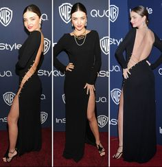 By Wendy BarbaForget plunging necklines, Check out the new sexy trend here! Miranda Kerr shocked everyone on the red carpet at the Warner Bros. and InStyle Golden Globes after party.