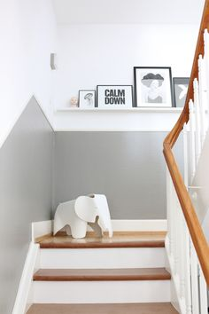 Die Bilder im Treppenhaus sind nun entlich am richtigen Platz… sogar der Babyk… The pictures in the staircase are now in the right place … even the baby head has found a new place. Decor, Staircase, Interior Inspiration, Home And Living, Furniture, Interior, House, Home Decor, House Interior