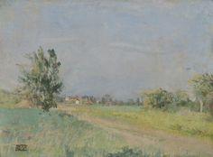 Edouard Vuillard - Paysage a Vaucresson, 1906. Oil on paper laid on canvas