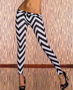 Legging Femme noir et blanc avec motifs en viscose par UnCadeauUnSourire.com 26789c9e737