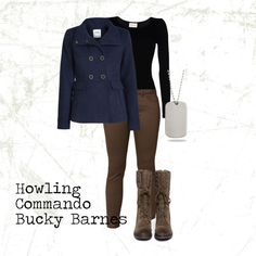 """""""Howling Commando Bucky Barnes"""" by flyingchunksofstuff on Polyvore"""