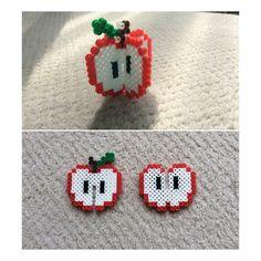 Perler beads 3-D apple