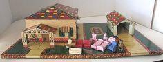Vintage Marx Toys Tin Litho Honeymoon Cottage Doll House Furniture