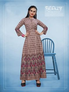 Gowns Online, Print Design, Stylish, Extra Fabric, Kurtis, Collection, Color, Dresses, Women