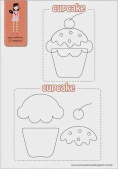 Artesanato com amor...by Lu Guimarães: Cupcake em Tecido