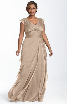 Nordstrom Clothes - Adrianna Papell Iridescent Chiffon Petal Gown (Plus Size) available at Evening Dresses Online, Evening Gowns, Plus Size Dresses, Plus Size Outfits, Vestidos Mob, Moda Xl, Mom Dress, Plus Size Wedding, Looks Style