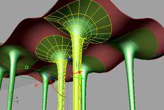 fillet merge (??) poles to freeform surface - Grasshopper