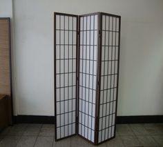 Shoji 3 Fold Screen -  Brown #furniturestore