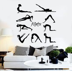 Vinyl Wall Decal Pilates Gymnastics Sport Healthy Lifestyle Stickers (ig4525)