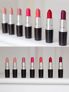 My Favourite MAC Lipsticks | By Shirley B. Eniang | Shy Girl, Hug Me, Modesty, Chatterbox, Vegas Volt, So Chaud, Ruby Woo, Rebel #fave