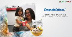 Another winner of the lunch coupon. Congratulations! #UnitedTax#2016 #Contest