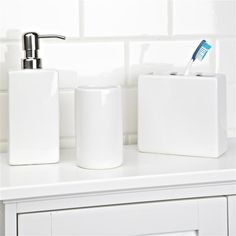 nova ceramic bath accessory combo set3 white kitchen stuff plus
