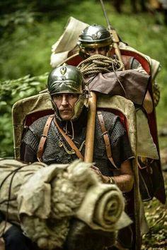 Roman legionary reenactors