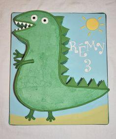George's Dinosaur Birthday Cake by thecustomcakeshop, via Flickr