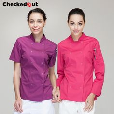 women chef jacket coat